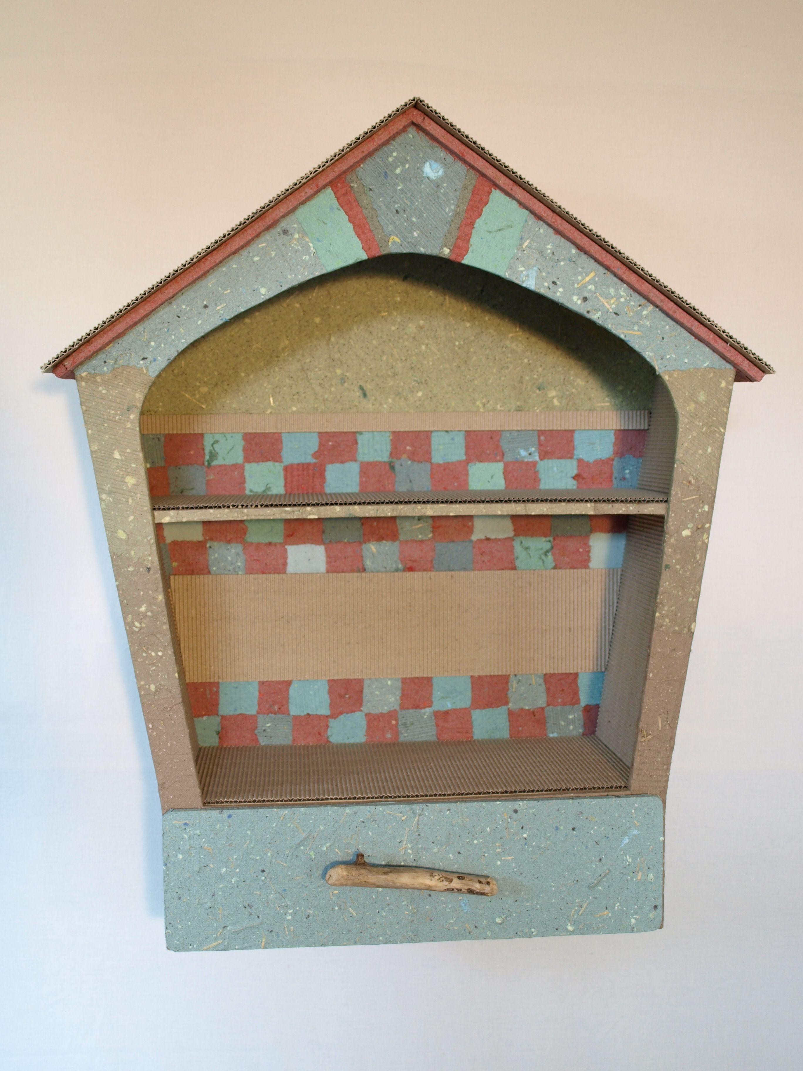 tagre meuble en carton papier fait maison carton et racinebois flott