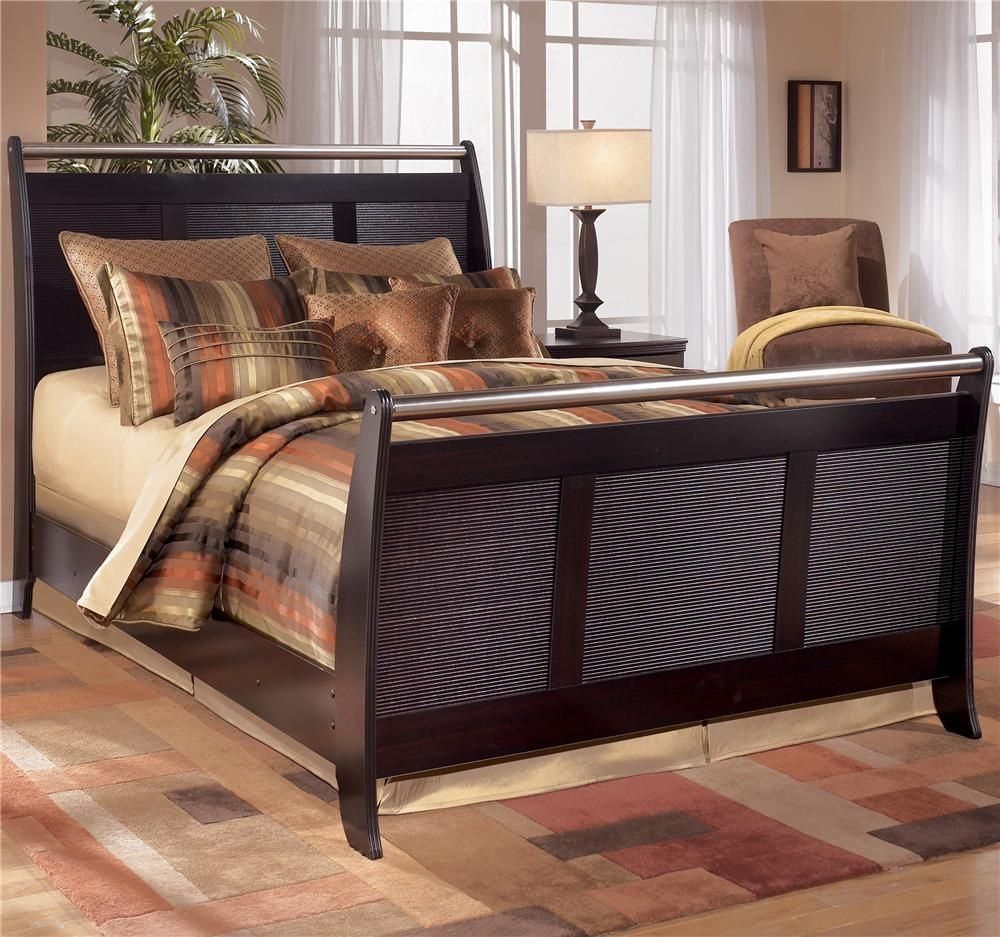 Pinella Queen Sleigh Bed By Signature Design By Ashley   Gardiners Furniture    Sleigh Bed Baltimore
