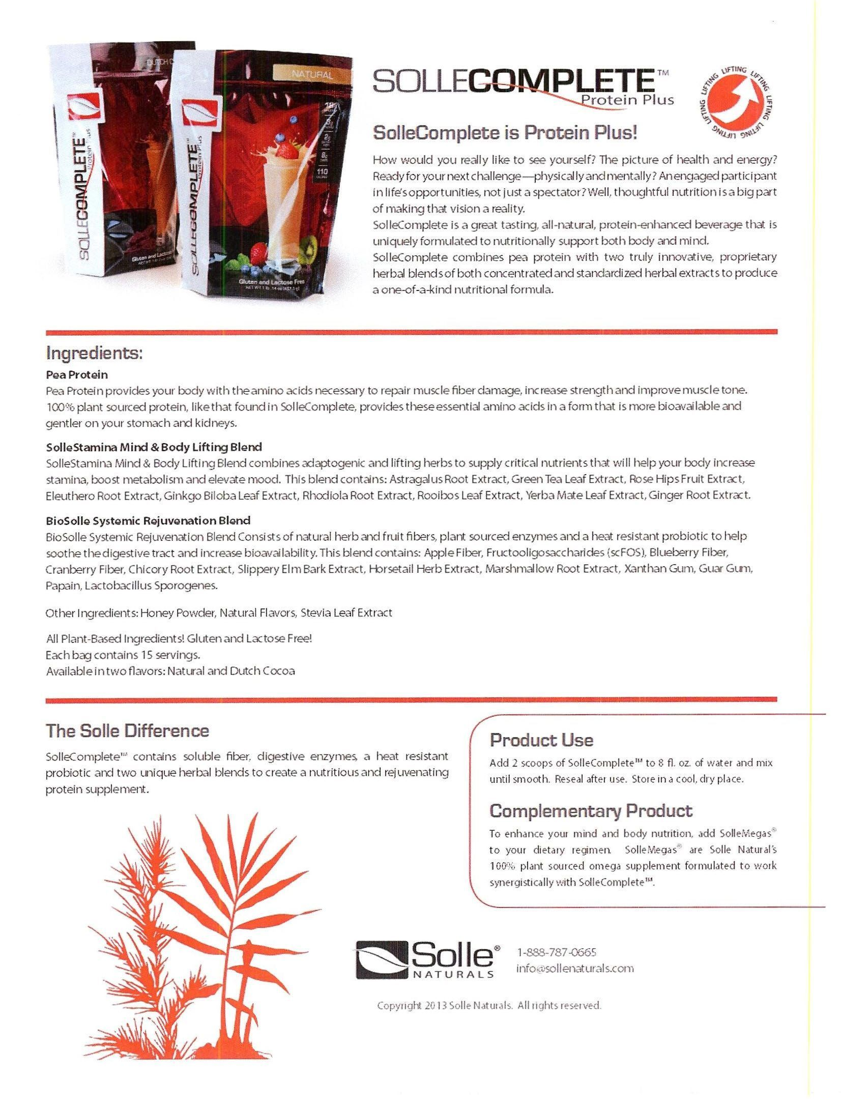 Sollecomplete Is A Special Protein Plus Meal Replacement That Works