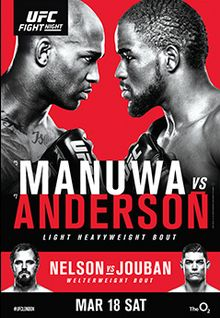 Ufc Fight Night Manuwa Vs Anderson In 2020 Ufc Live Ufc Fight Night Ufc