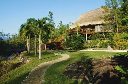 Tucked away in a pocket of the Maya Mountains, Blancaneaux Lodge offers 20 guestrooms all individual dwellings with thatched roofs.Its remote mountain setting makes it a perfect place to relax, rejuvenate and enjoy life's simple pleasures. Truly feel like a VIP when you book with Travel with Terra and get these Exclusive Perks **Full Breakfast for two daily at Montagne. Also available through room Service & Horseback Riding Trip to Big Rock Falls for two, once during stay