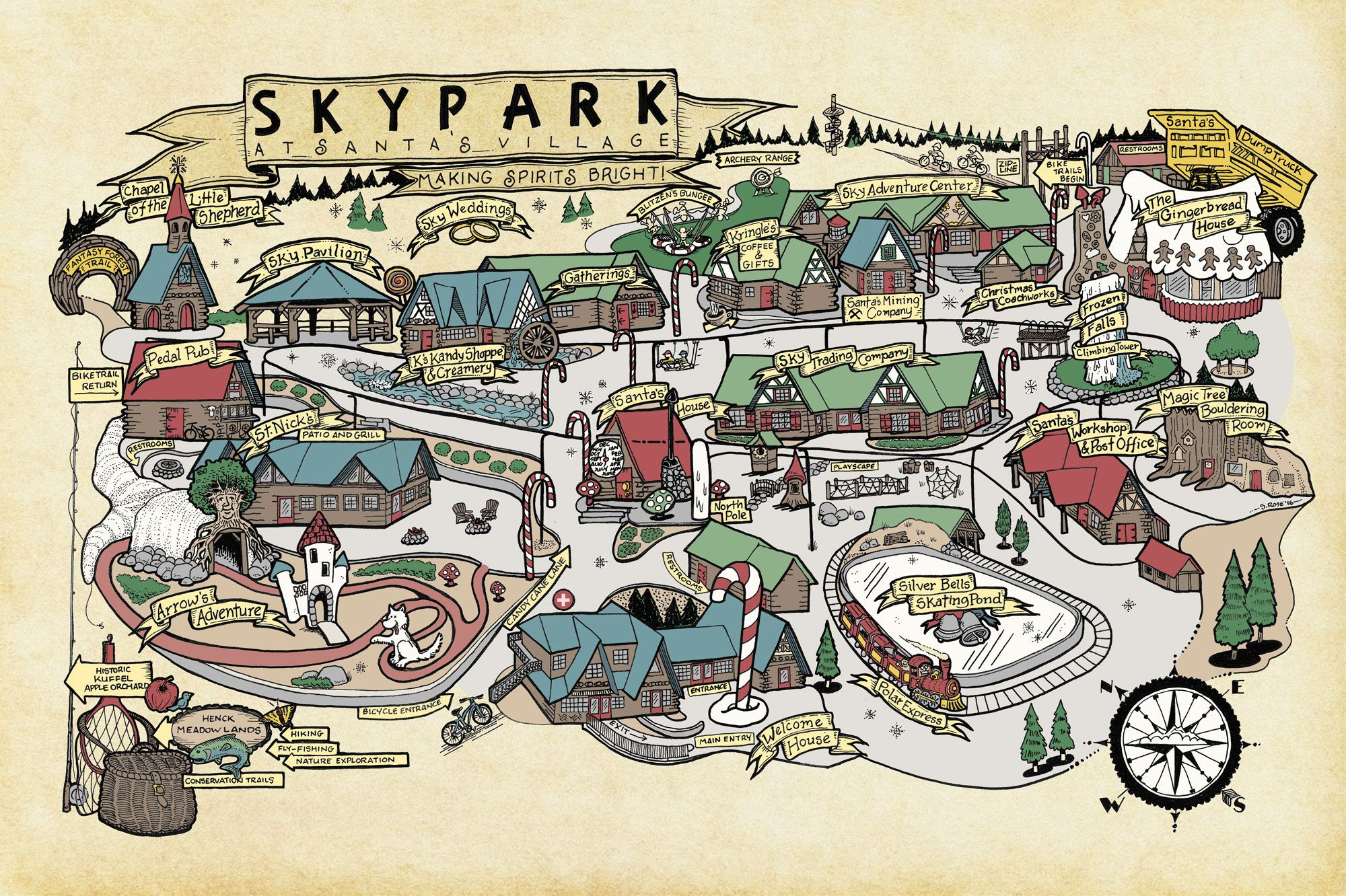lake arrowhead village map Plan Your Trip To Skypark At Santa S Village Make The Most Of lake arrowhead village map