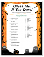 photo about Printable Halloween Games Adults identify Printable Halloween Game titles craft in just 2019 Halloween video games