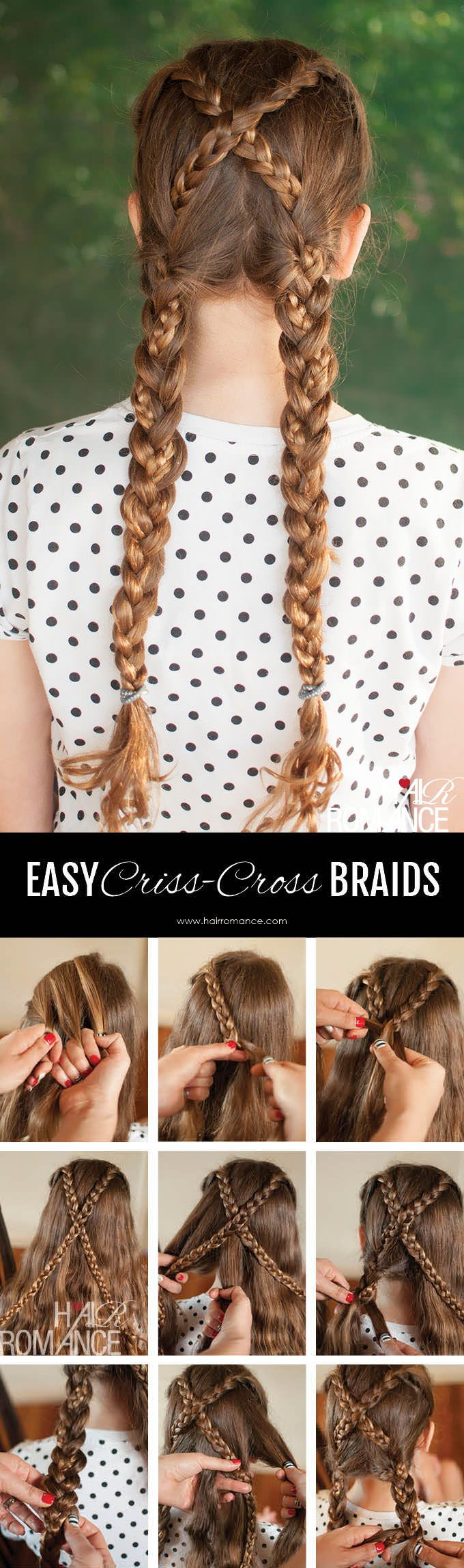 Braids - Get excited! You are going to have fab hair thanks to Haleigh | Pull through braid tutorial