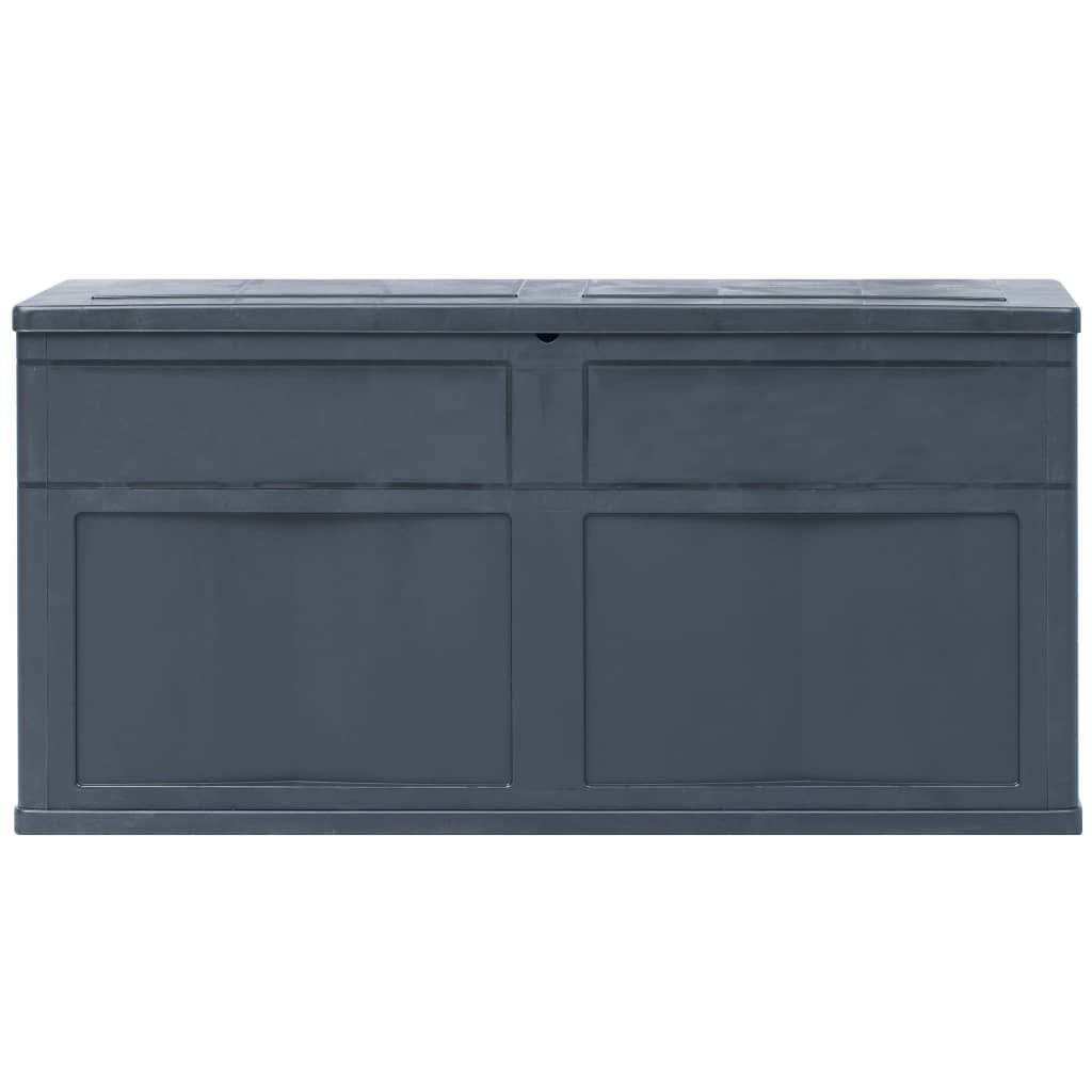 ZUN Garden Storage Box 84.5 gal Black 45688
