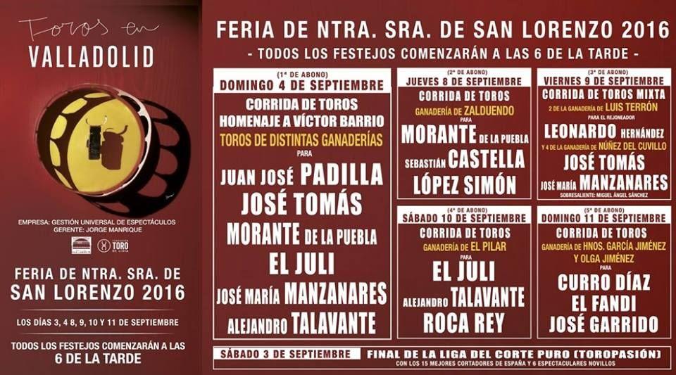 🗓Feria Taurina #Valladolid2016 Descubre y siente #Pucela #TienesQueVenir  ¿Te lo vas a perder? #FeriaTaurina #Feria #Toros #ValladolidEsTaurina #Arte #Cultura