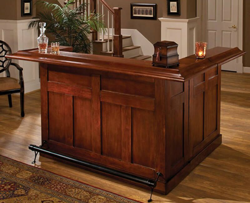 Bon This Cherry L Shaped Home Bar Is Fairly Large For A Bar Cabinet You Can Buy  Online.