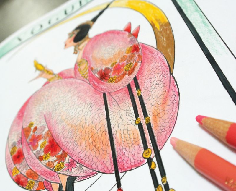 Coloring Therapy The Best Fashion Coloring Books For Adults Mochi