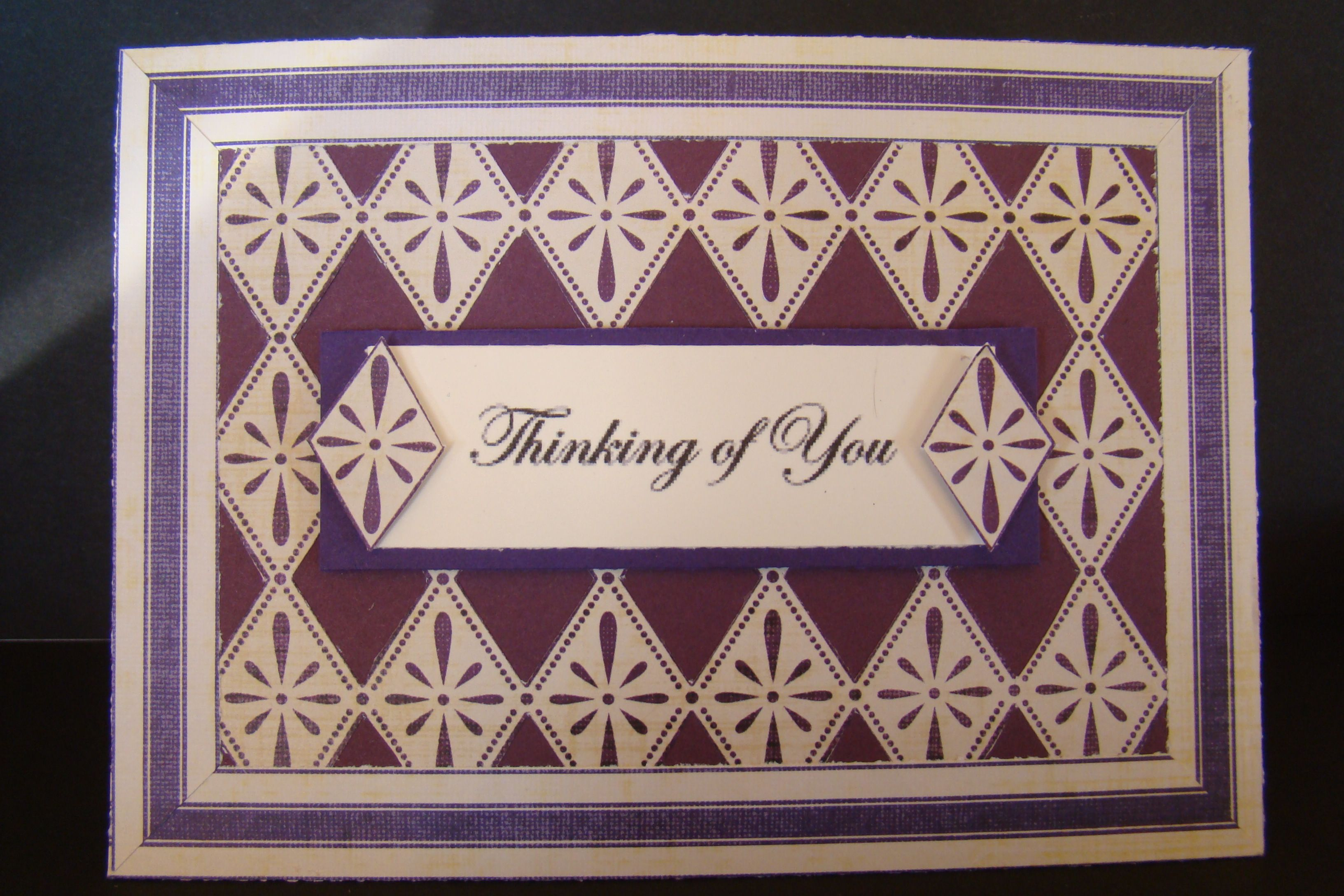 Hand cut designer paper 3-D in plum