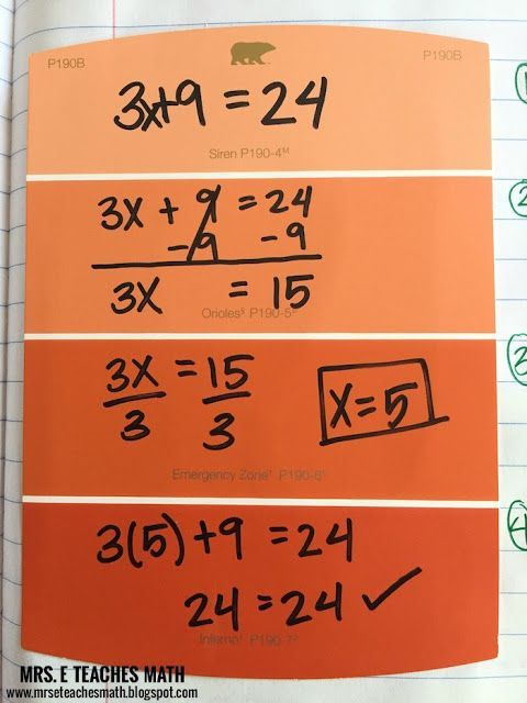 Solving Two Step Equations Interactive Notebook Page Idea