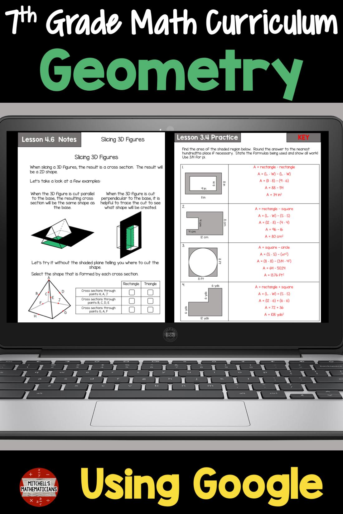 7th Grade Math Unit 6 Geometry Using