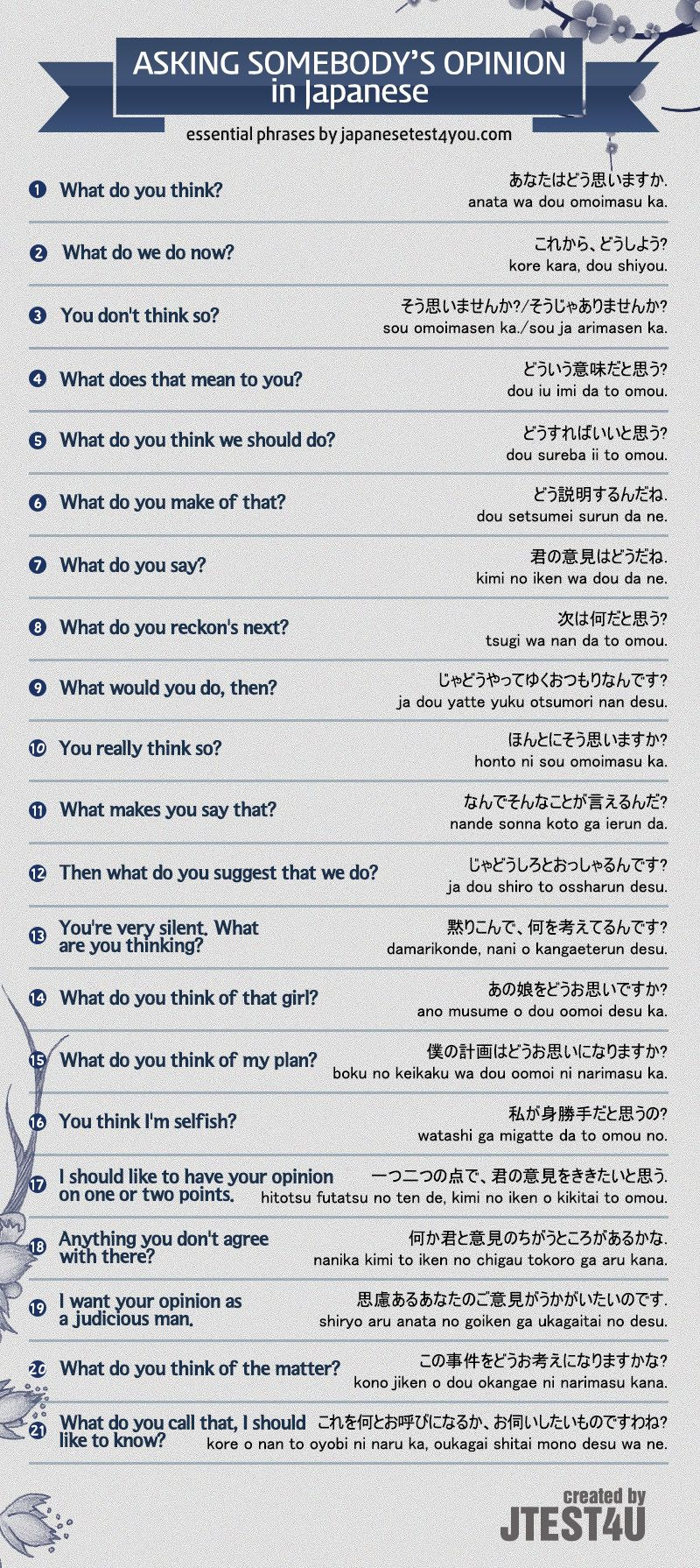 How To Ask For Someones Opinion In Japanese Source N I H O N G O