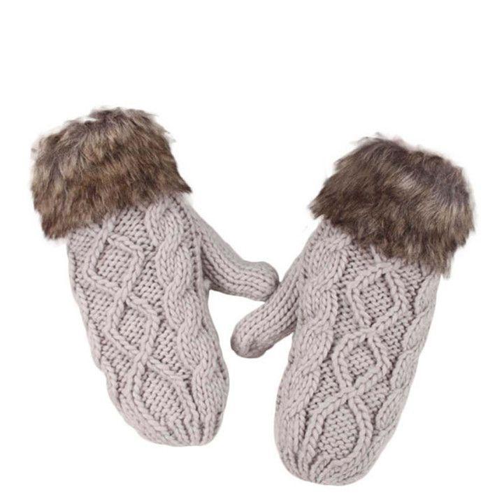 """C$ 3.73  Pas cher Delicate Lovely Women Double Deck Wool Hang Neck Mittens Knitted Warm Fur Gloves Hot Selling, Acheter  Gants et Mitaines de qualité directement des fournisseurs de Chine:    Condition: 100% Tout Neufmatériel: velourslongueur: 25 cm/9.84 """"largeur: 10 cm/3.94 """"couleur: Rouge,"""
