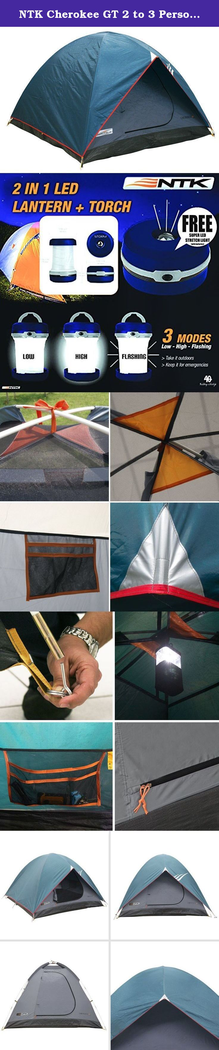 ntk cherokee gt 2 to 3 person 7 by 5 foot sport camping dome tent 100