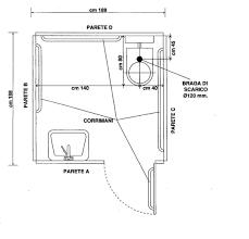 bagno #disabili misure | Tecnica | Pinterest | Bagno