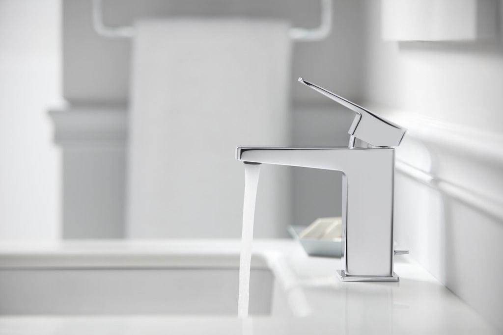 With Clean Lines And Square Features The Honesty Singlehandle - Kohler devonshire bathroom sink faucet