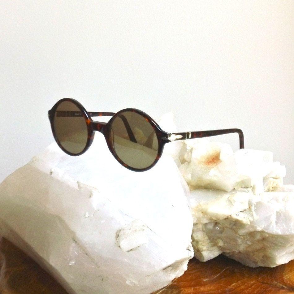 6ac0fd5a5e5cf Vintage PERSOL Sunglasses    Collectors Item Rare Round AUTHENTIC 60 s  Persol Glasses    1960 s Acetate Unisex Men s Woman s Eyeglasses.