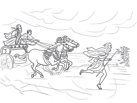 elijah runs away from jezebel coloring page from prophet elijah category select from 24848 printable crafts of cartoons nature animals bible and many - Elijah Bible Story Coloring Pages