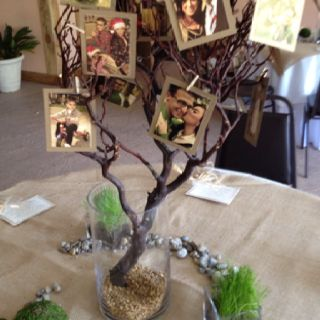 Family tree wedding centerpiece
