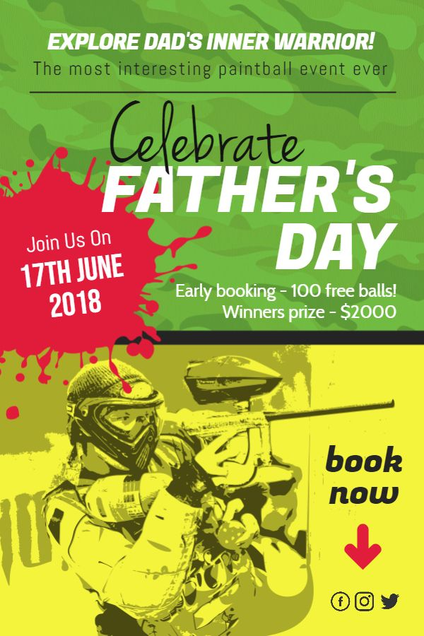 Happy father\'s day sports event poster template. | Father\'s Day ...