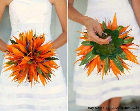 Tropical Flowers For Beach Wedding
