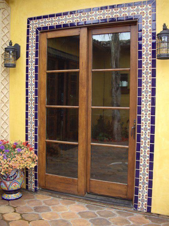 Decorative Tile Frames Tiled Door Frame  Spanish Style  Pinterest  Doors And Spanish Style