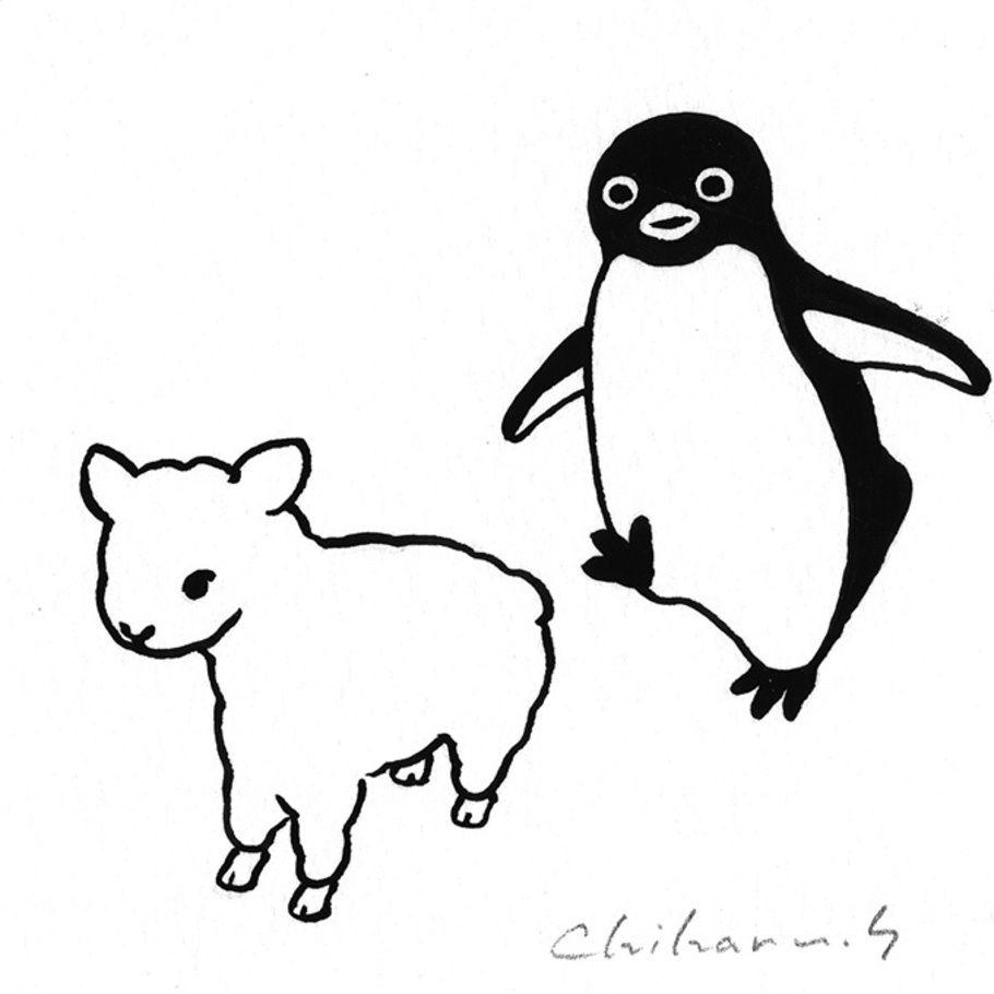 写真6 7 Suicaのペンギンの作者 坂崎千春の企画展 ペンギン百態