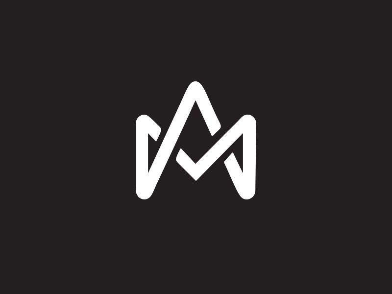 Monogram Am Logos Design Initials Logo Typography Logo
