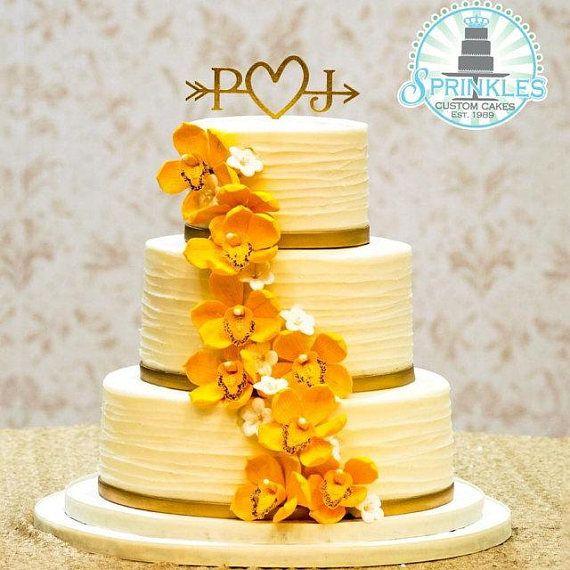 Rustic Wedding Arrow Cake Topper   Decoration   Beach wedding ...