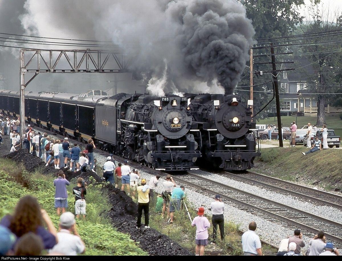 Nkp 765 Csx Transportation Csxt Steam 2 8 4 At Hurricane West Virginia By Bob Kise Scenic Railroads Steam Trains Photography Train Pictures