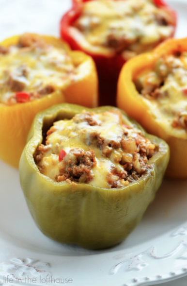 Save Time By Making Stuffed Peppers In Your Slow Cooker Only 10 Minutes Of Prep Time Required Crockpot Stuffed Peppers Food Recipes Food