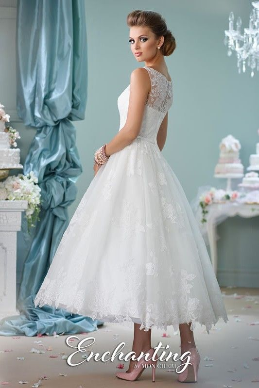 8abedf185d Enchanting by Mon Cheri | tea length wedding dress style 116136 | My ...
