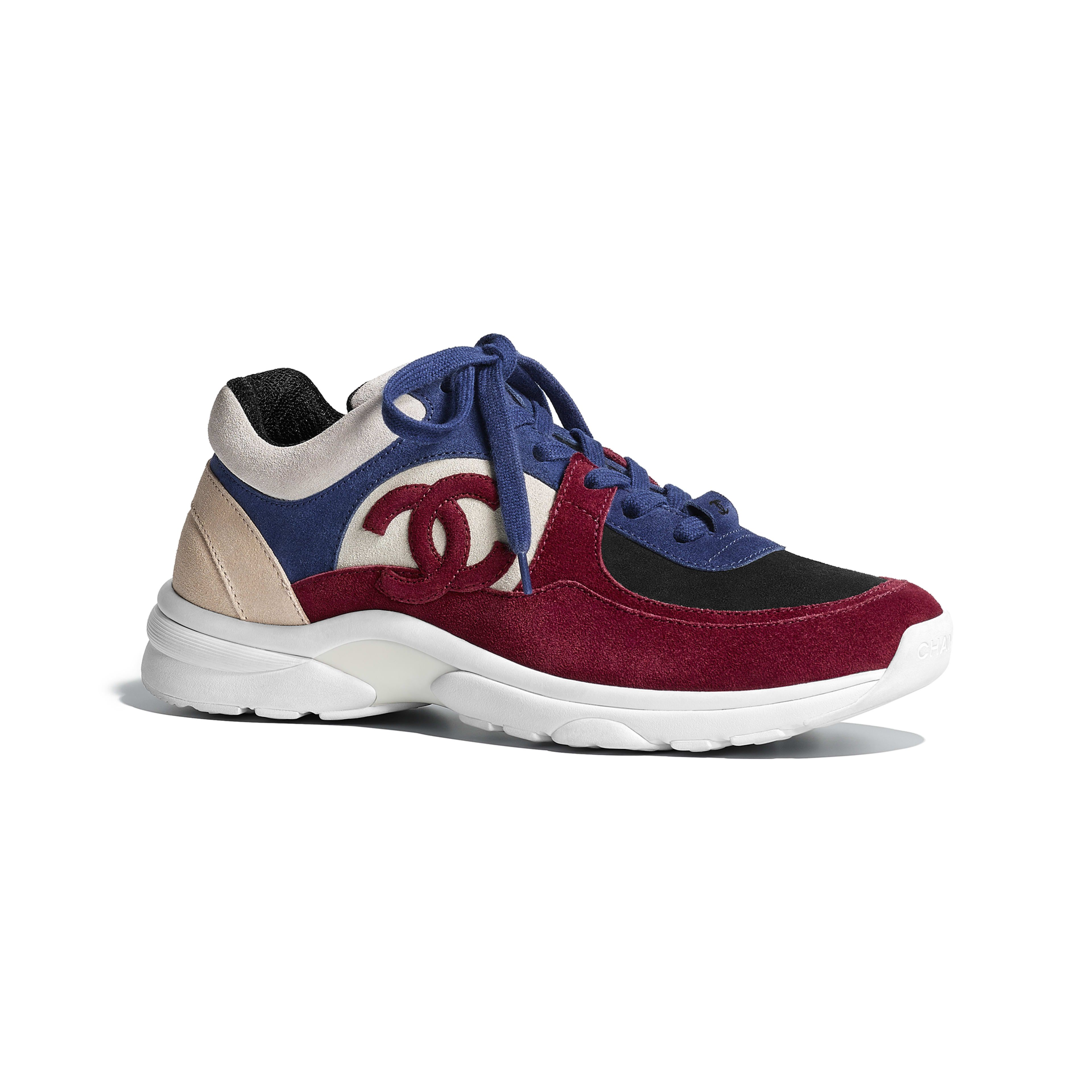 8fb45884be4 Sneakers - Navy Blue   Red - Suede Calfskin - Default view - see full sized  version