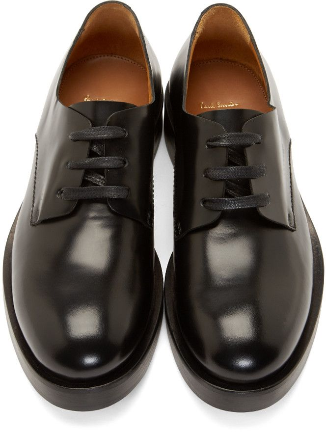Paul Smith Black Leather Patton Derbys