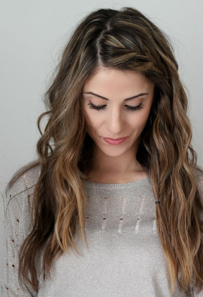 Frisuren mittellang gewelltes haar