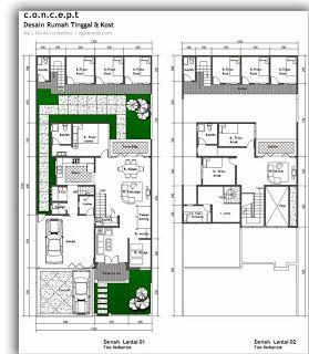 denah rumah industrial - desain minimalis