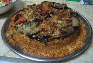 Iraqi food maqlobi with rice and eggplant iraqi food iraqi food maqlobi with rice and eggplant forumfinder Images