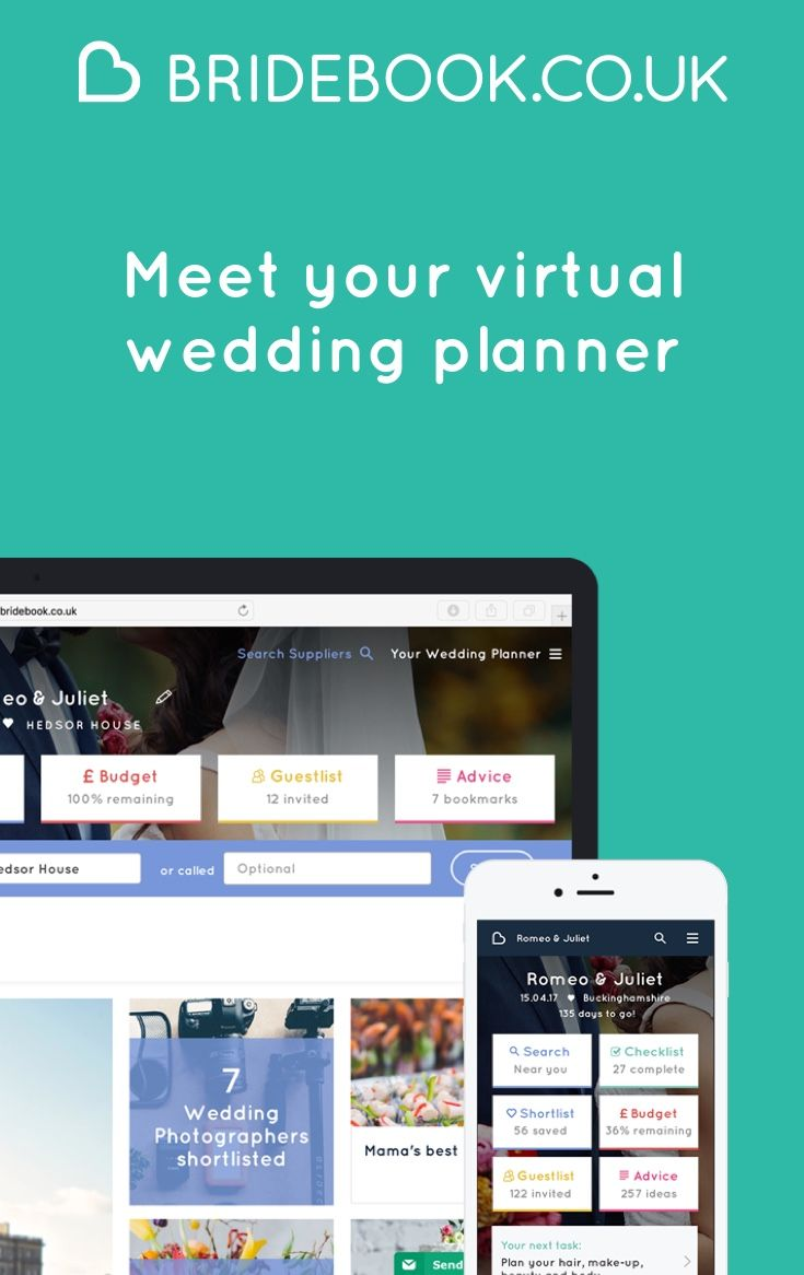 Sign up to Bridebook the free online wedding planning app website