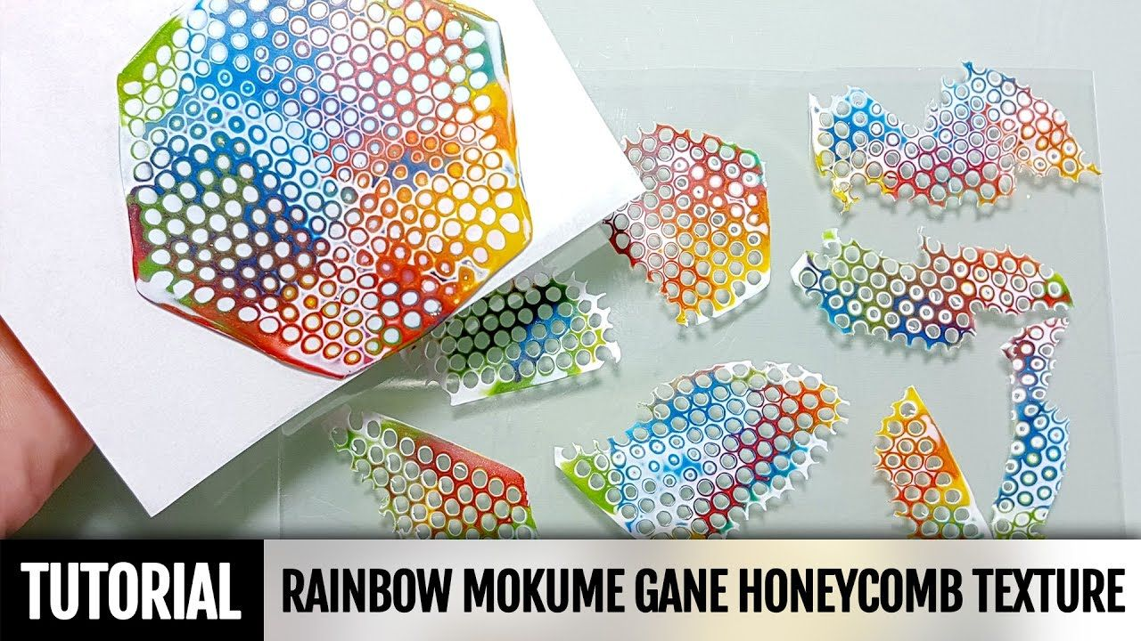 DIY 2IN1How to make Rainbow Mokume Gane technique using a round Honeycom...