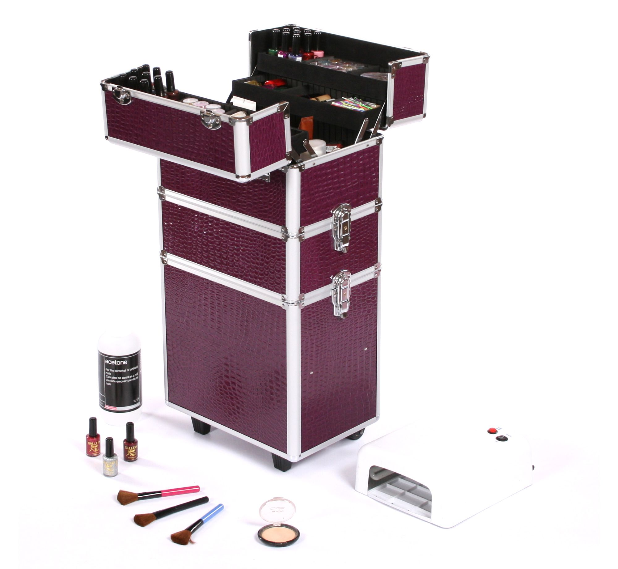 Urbanity Classic Beauty Trolley - perfect for a number of beauty storage uses, with multiple compartments, it can store all your beauty and cosmetic supplies. Available at http://wwww.urbanityonline.co.uk/Beauty-Trolley