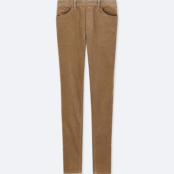 bd8935f1125d3d WOMEN HEATTECH HIGH-RISE VELVET LEGGINGS PANTS, BROWN, large ...