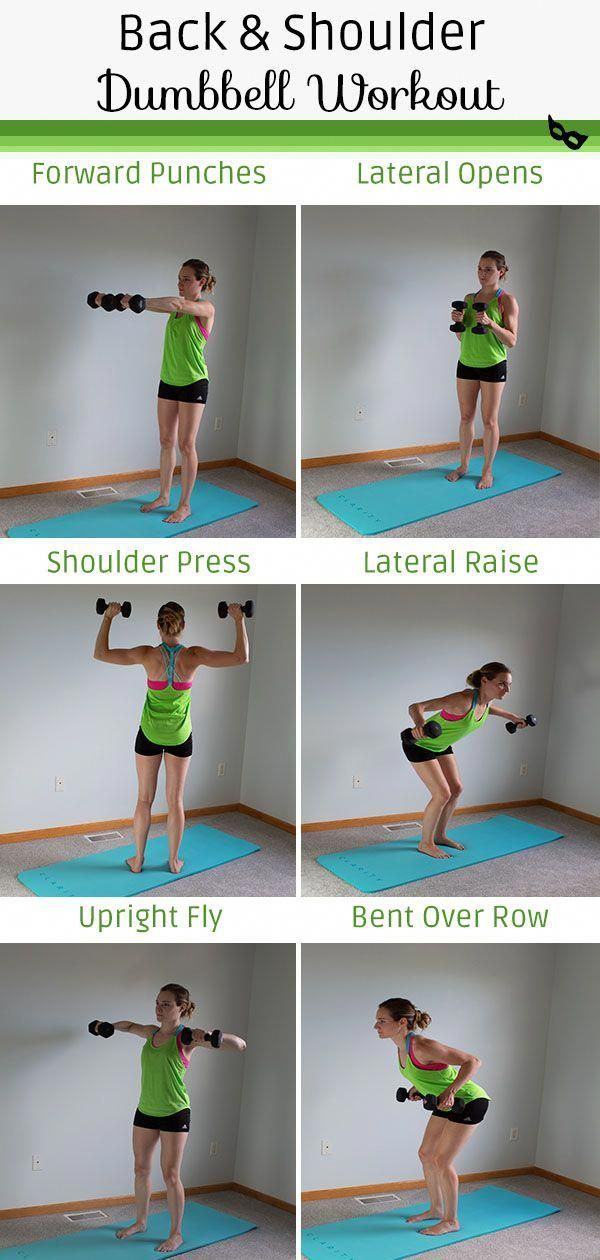 Back and Shoulder Workout with Dumbbells - #dumbbellexercises