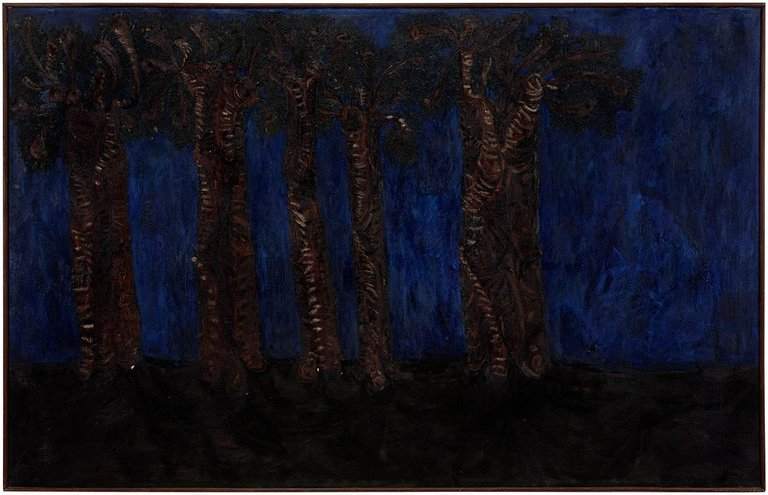 Walter Hahn Night Trees Products In 2019 Art Painting