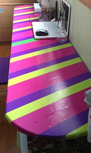 Duct tape furniture- desk  Artchoo.com | Play Rooms ...