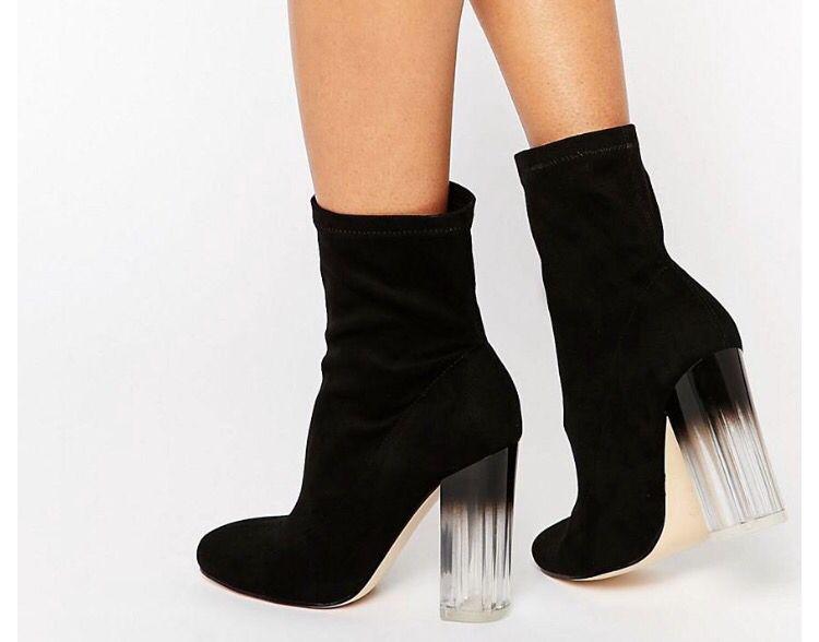 Asos clear heels | Clear heel boots