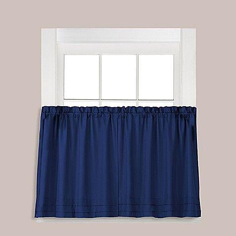 Holden 24 Inch Window Curtain Tier Pair In Navy