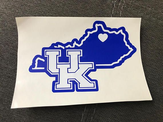 Univeristy of kentucky state decal uk car decal laptop decal sticker