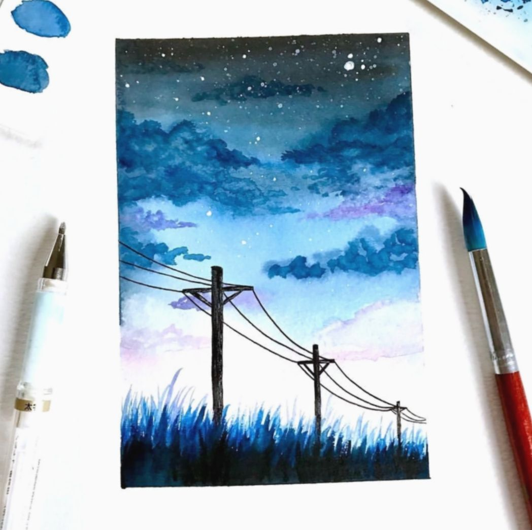 9 Cute Stuff To Paint On A Canvas Watercolor Art Fine Art Painting Art Painting