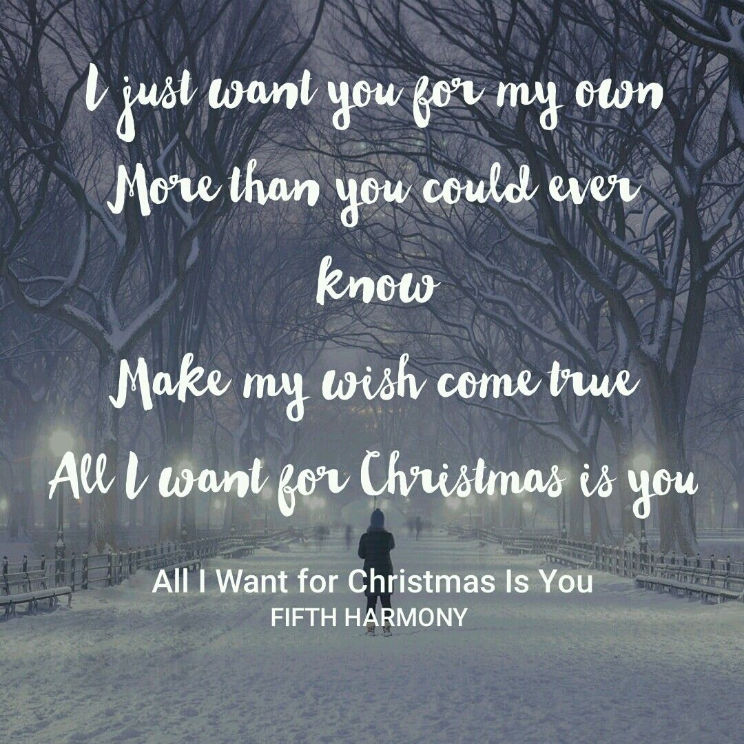 All I Want For Christmas Is You Fifth Harmony Fifth Harmony Harmony All I Want