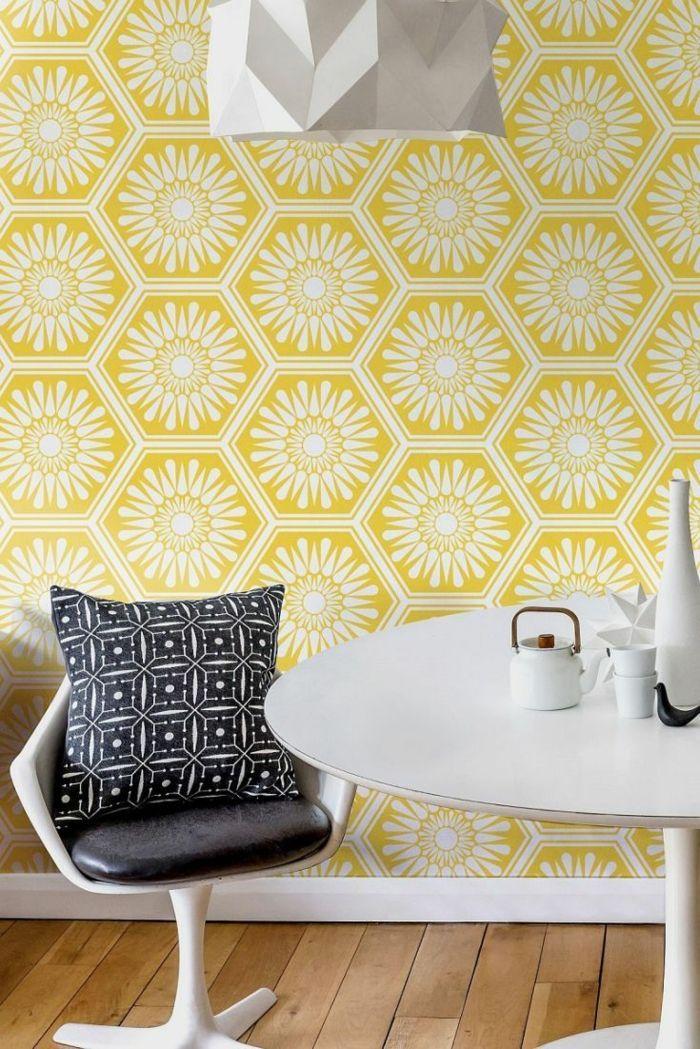 papier peint scandinave 30 id es pour un int rieur. Black Bedroom Furniture Sets. Home Design Ideas